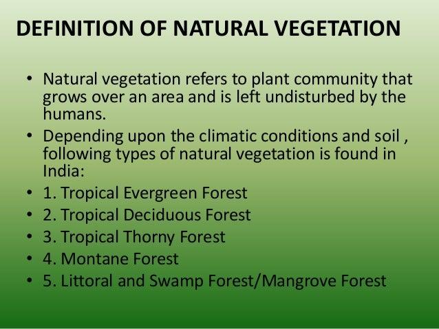 types of natural vegetation