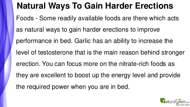 Natural ways to get a stronger erection