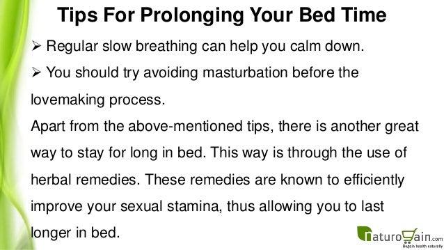 Breathing to last longer in bed