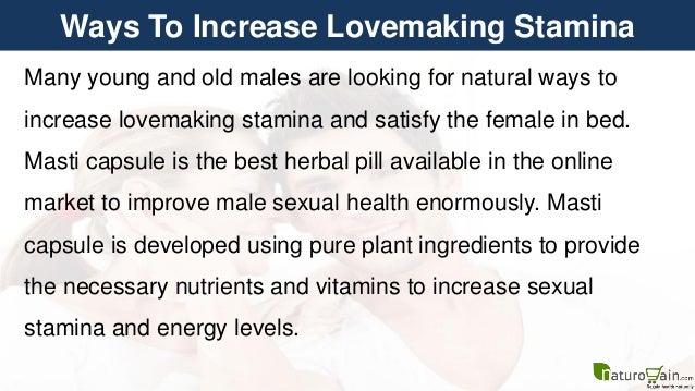 Ways to improve stamina in bed