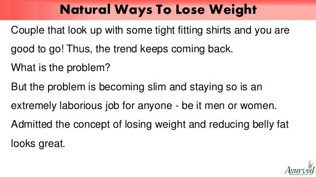 natural ways how to lose weight fast