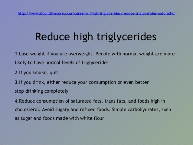 Foods To Reduce Triglycerides Naturally