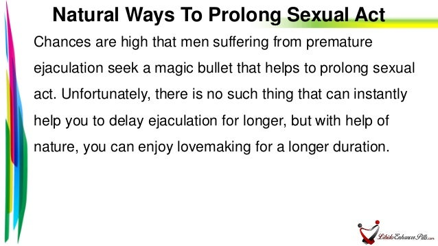 ways to prolong sex