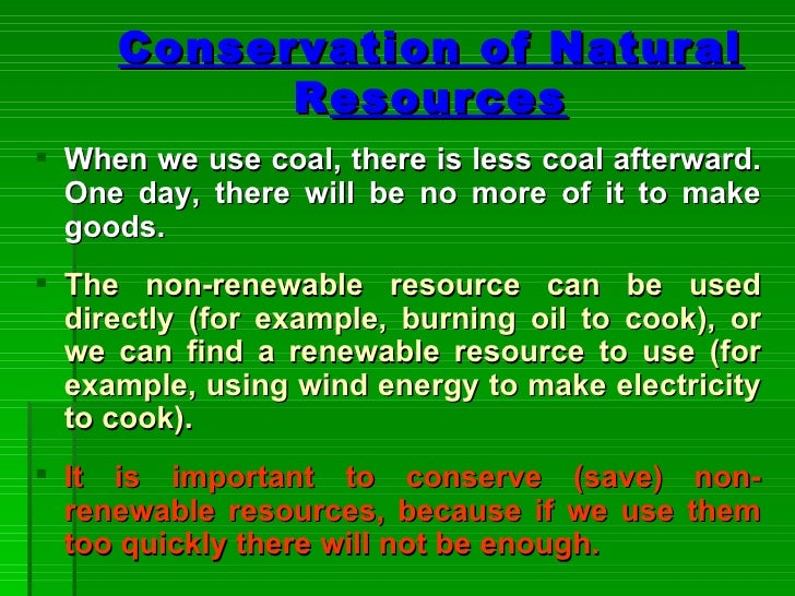 How Does Using Less Electricity Conserve Natural Resources