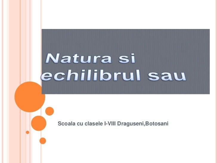 Scoala cu clasele I-VIII Draguseni,Botosani