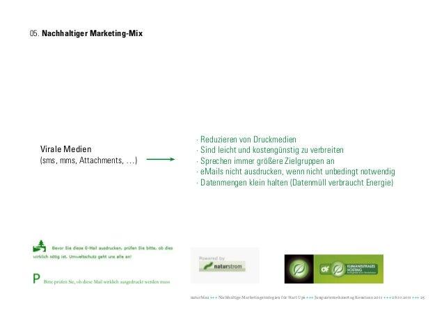 05. Nachhaltiger Marketing-Mix                                    · Reduzieren von Druckmedien  Virale Medien             ...