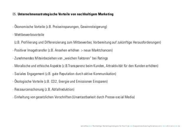 05. Unternehmensstrategische Vorteile von nachhaltigem Marketing· Ökonomische Vorteile (z.B. Preiseinsparungen, Gewinnstei...