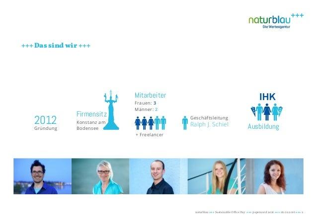 Nachhaltigkeit im Büro - Blau machen im Green Office Slide 2
