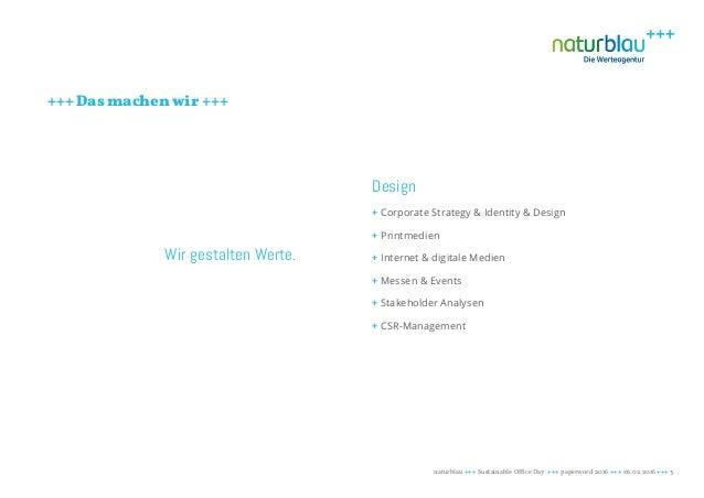 Nachhaltigkeit im Büro - Blau machen im Green Office Slide 3
