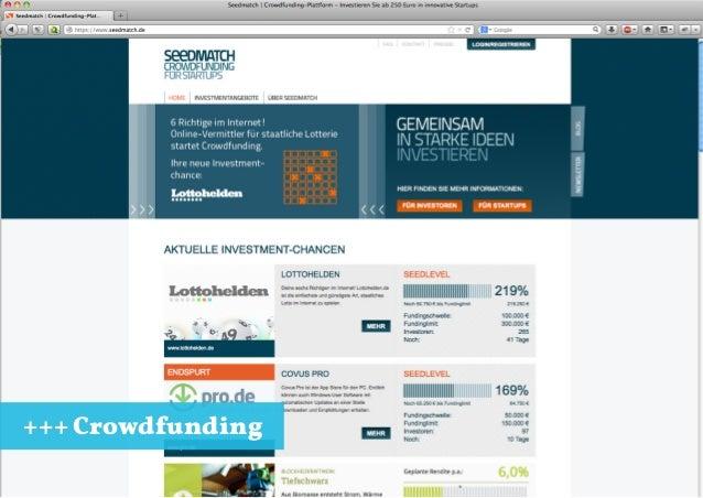 +++ Crowdfunding Jungunternehmertag Konstanz 31.10.2013 +++ Crowdfunding vs. Loudmoaning +++ 27.10.2013 +++ 7