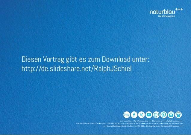 +++ naturblau – Die Werteagentur +++ Blarerstr. 56 +++ 78462 Konstanz +++ +++ Tel: +49-7531-282 48 90 +++ Fax: +49-7531-28...