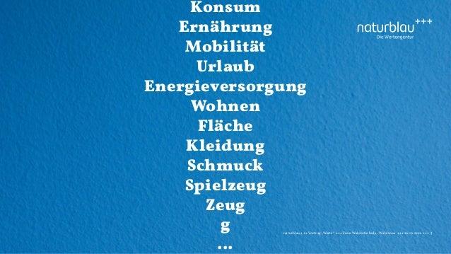 """naturblau +++ Vortrag """"Werte"""" +++Freie Waldorfschule - Wahlwies +++ 26.10.2016 +++ 5 Konsum Ernährung Mobilität Urlaub Ene..."""