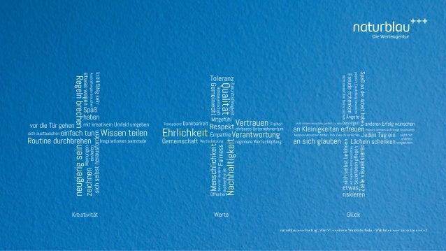 """naturblau +++ Vortrag """"Werte"""" +++Freie Waldorfschule - Wahlwies +++ 26.10.2016 +++ 7 Kreativität GlückWerte"""