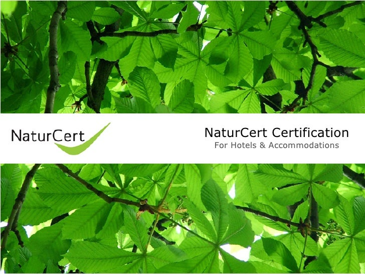 NaturCert Certification  For Hotels & Accommodations