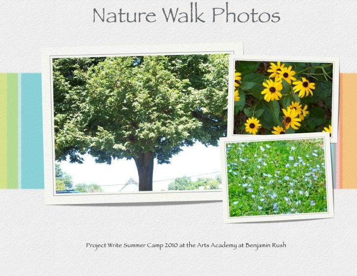 Nature Walk Photos     Project Write Summer Camp 2010 at the Arts Academy at Benjamin Rush