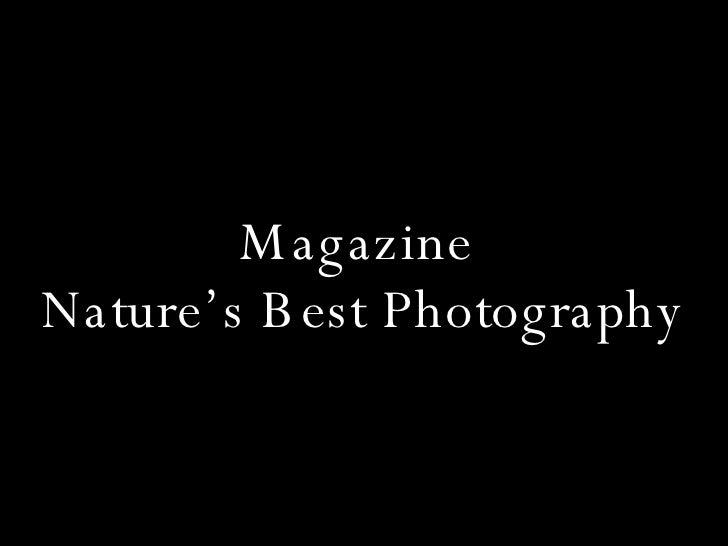 Magazine  Nature's Best Photography
