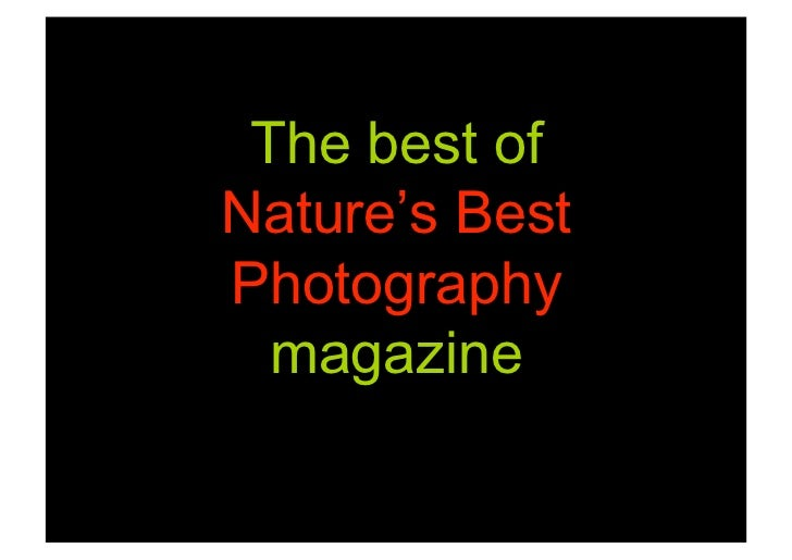 The best of Nature's Best Photography   magazine