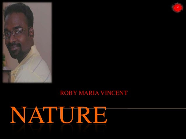 NATURE ROBY MARIA VINCENT