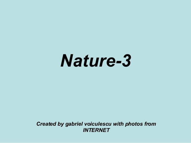Nature-3 Created by gabriel voiculescu with photos from INTERNET