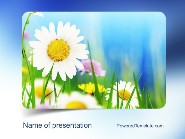 nature and beauty powerpoint template by poweredtemplatecom