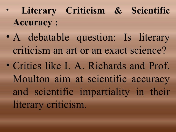 Nature and function of literature