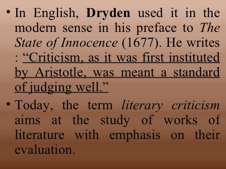 nature and function of literary criticism Defining literary criticism : scholarship, authority, and the possession of literary   article 'the new english a-level: contexts, criticism and the nature of literary   was it to retain its older function of explaining texts to a wider group of.
