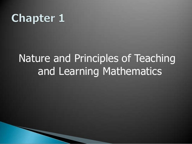 Top principles in teaching mathematics