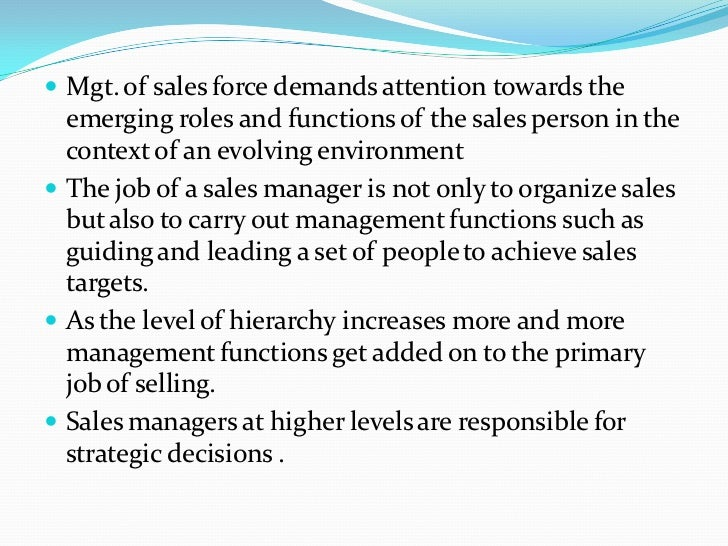nature of sales manager Background the nature and role of selling types of selling image of selling  the nature and role of sales management the marketing concept implementing .