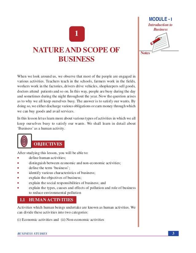 economic scope of business environment