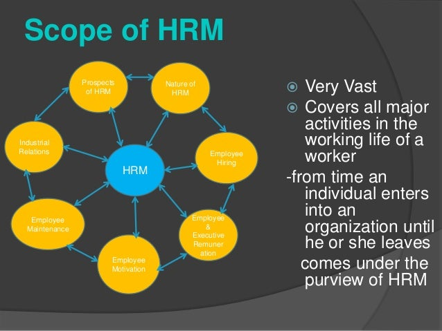 nature of hrm Nature and scope of management t 3 (xi) management is guiding human and physical resources into dynamic organisational units which attain their objectives to the.