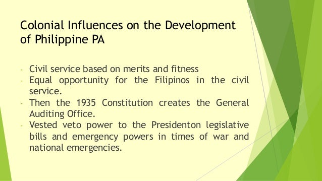 Colonial Development Service : Scope and colonial influences of public administration