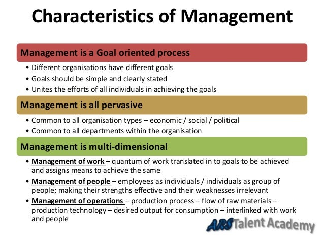 nature and significance of management What is management definitions meaning and features,  situational in nature management makes plans, policies and decisions according to the situation.