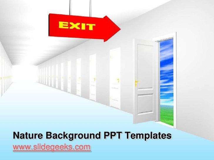 Nature Background PPT Templates<br />www.slidegeeks.com<br />