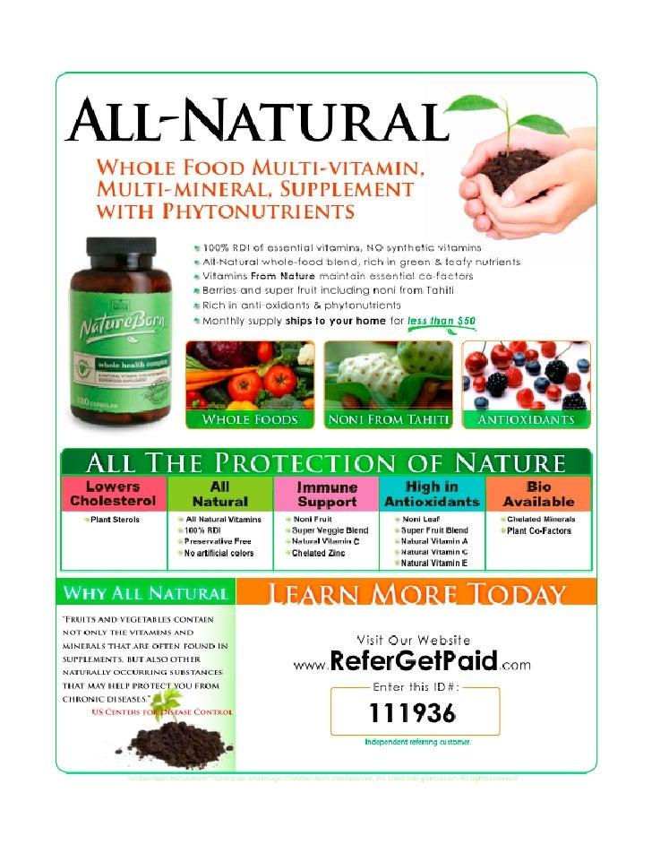 NatureBorn All-Natural Whole Food Multi-vitamin