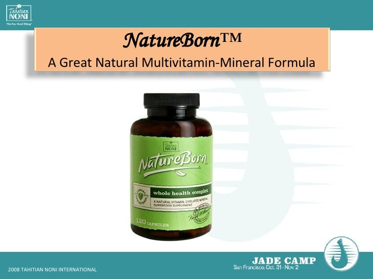 NatureBorn ™ A Great Natural Multivitamin-Mineral Formula