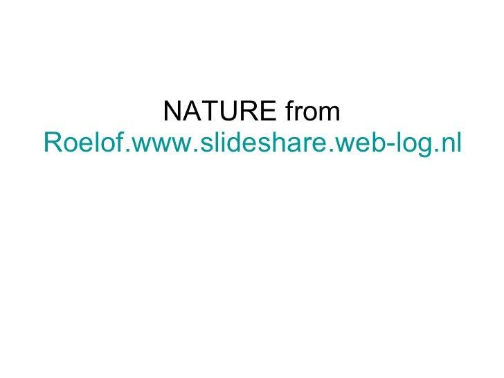 NATURE from Roelof.www.slideshare.web-log.nl
