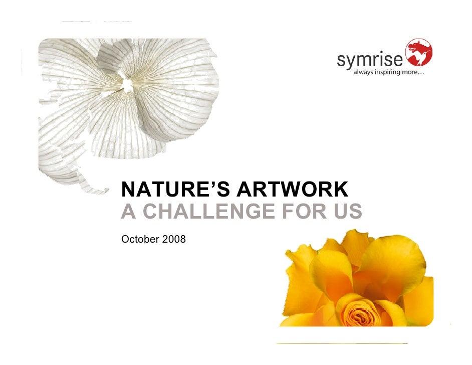NATURE'S ARTWORK A CHALLENGE FOR US October 2008