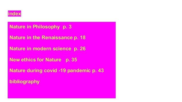 Nature in philosophy def Slide 3