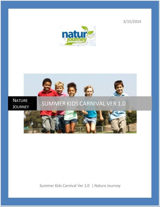 3/15/2014 Summer Kids Carnival Ver 1.0 | Nature Journey NATURE JOURNEY SUMMER KIDS CARNIVAL VER 1.0