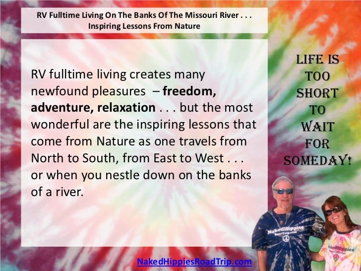 RV Fulltime Living On The Banks Of The Missouri River . . .               Inspiring Lessons From Nature                   ...