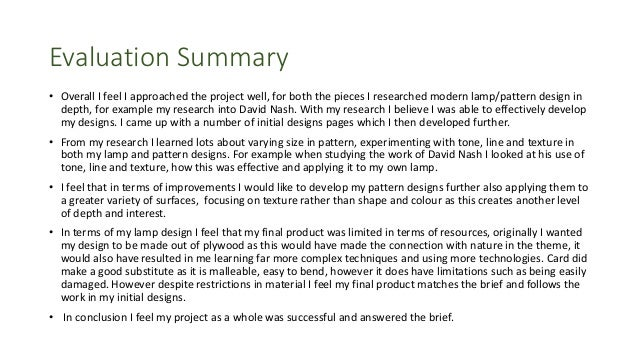 research project summary example