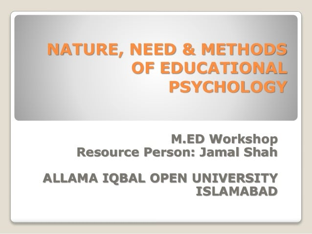 What are the Nature and Aims of Educational Psychology?