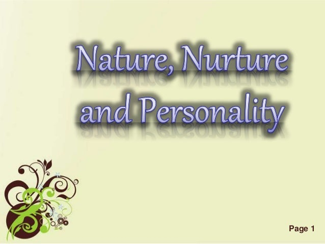 nature nurture personality