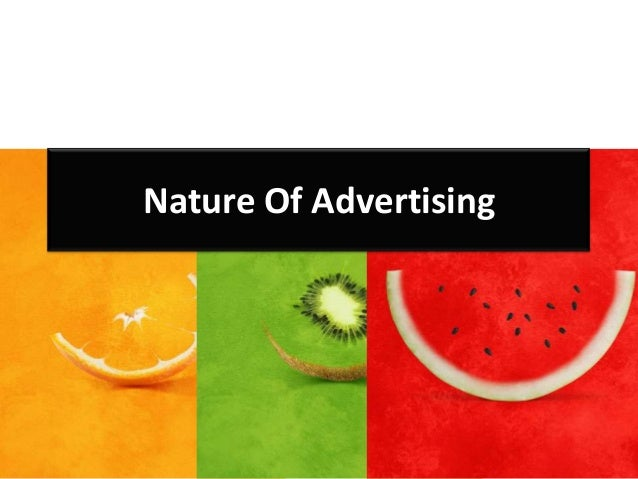 Nature Of Advertising