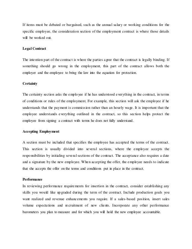 Nature of employment contract , MoCU University