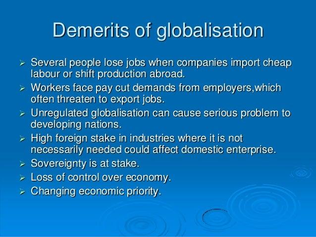 demerits of globalization
