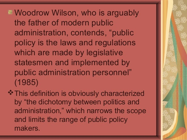 who is the father of public administration