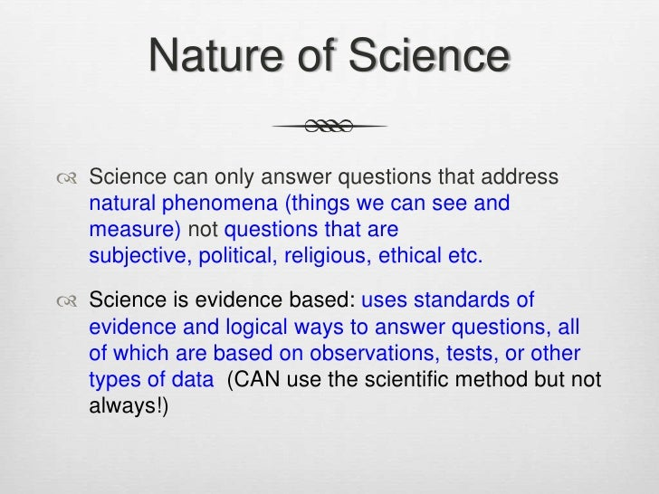 Nature Of Science Statements