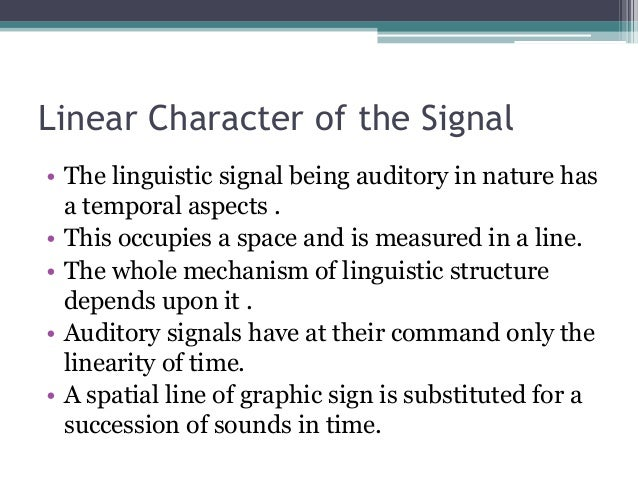 saussure nature of the linguistic sign