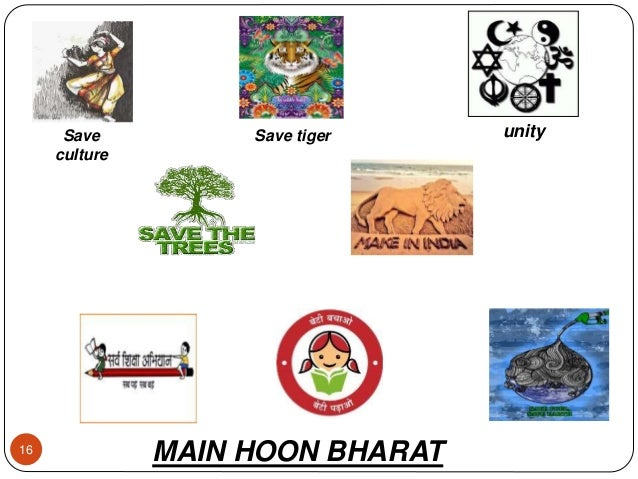 16 Save culture Save tiger unity MAIN HOON BHARAT
